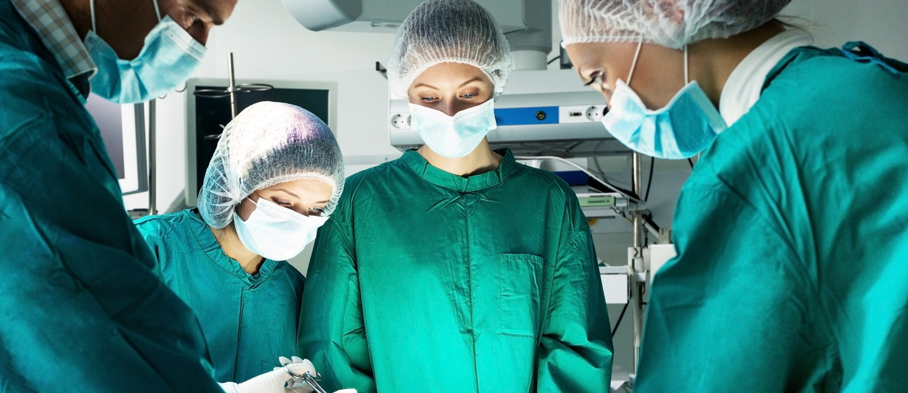 surgeons in operating theatre